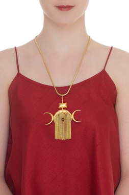 Chain Fringed Long Necklace