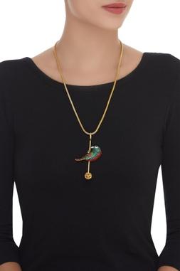 Single Bird Long Necklace