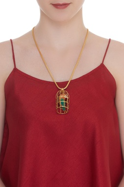 Bird In The Cage Long Necklace