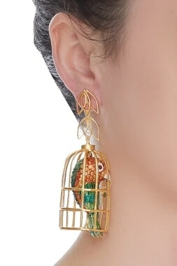 Bird In The Cage Earrings