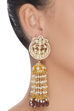 Chandbali style jhumka earrings