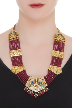 Kundan neckalce with beads