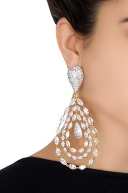Circular hoop-style earrings