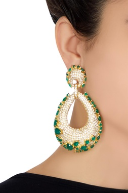 Ova shaped earrings