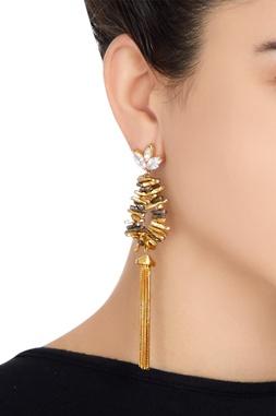 Long tassel chain earrings