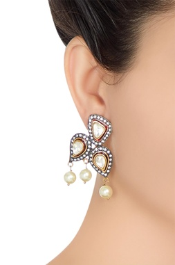 Persian style pearl drop earrings