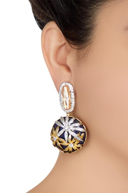 Crystal embellished dangling earrings