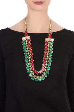 Kundan layered statement necklace