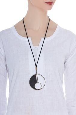 Concrete pendant necklace