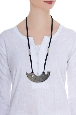 Drill bits abstract necklace