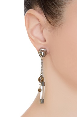 Bike rivets & electric fuse earrings
