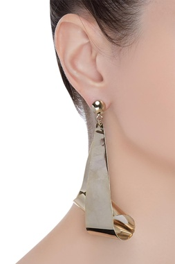 Conversation starter long earrings