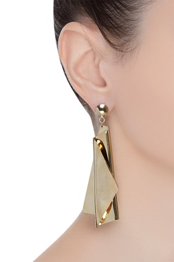 Artistic fluid earrings