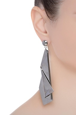 Offbeat sculptural earrings