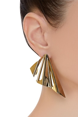 Twisted wave earrings