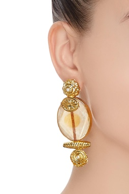 Pearl detail statement earrings