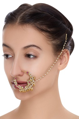Nose ring encrusted with ruby stones