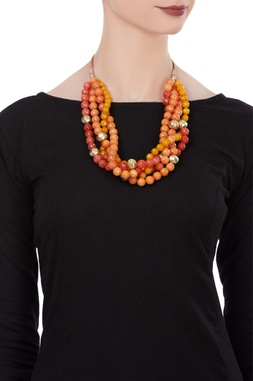 Beaded tiered style necklace