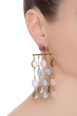 Earrings with gemstones