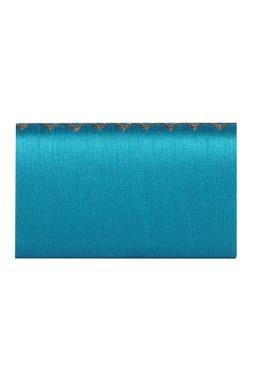 Sequin & zari work dupion silk clutch