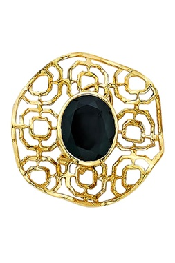 Filigree black onyx studs