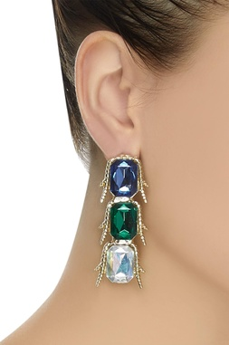 Embellished stone dangler earrings