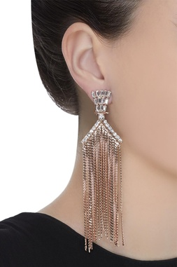 Embellished dangler earrings
