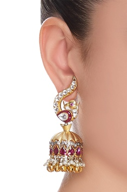 Baby pearls & kundan earrings