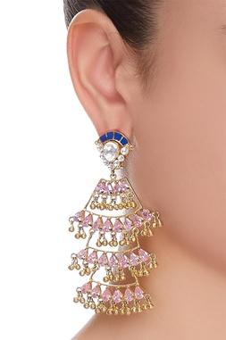 Handcrafted crystal dangler earrings