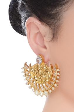 Crystal earrings with beads