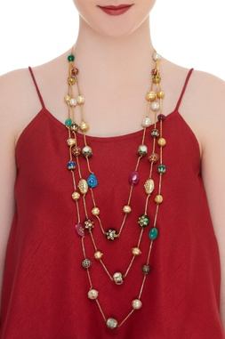 Kundan & jadau layered necklace