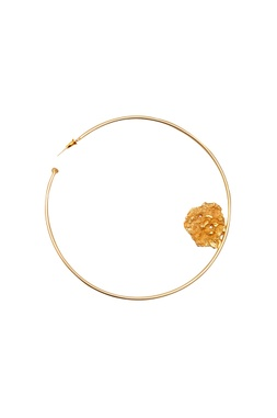 Gold plated oversized hoop