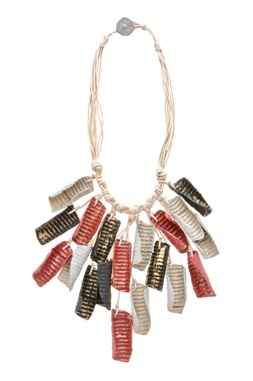 Hand twisted pieces biodegradable necklace