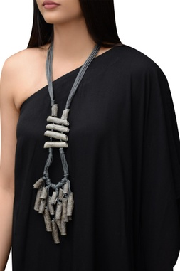 Grey biodegradable necklace
