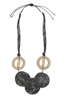 Geometric biodegrabale textured necklace