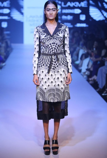 Latest Collection of Black gothic coat by Nachiket Barve
