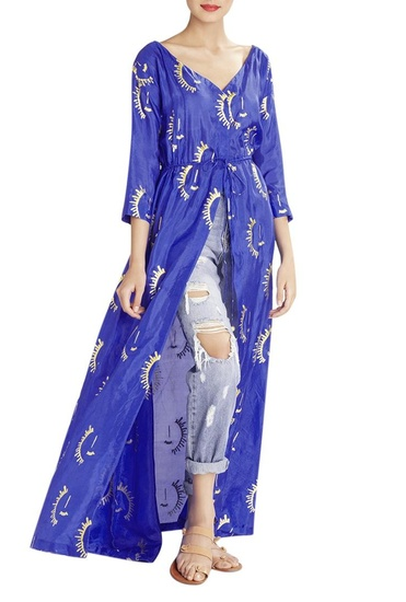 Latest Collection of Cobalt blue printed maxi top by Masaba
