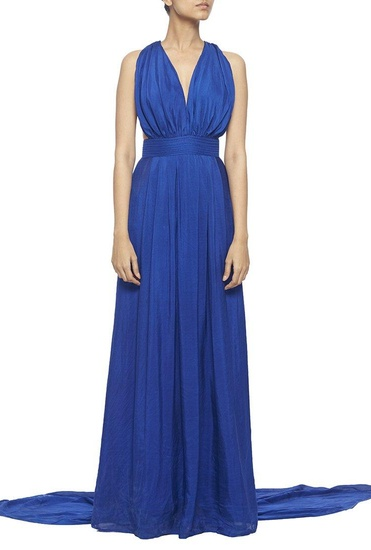 Latest Collection of Royal blue halter gown by Deme by Gabriella