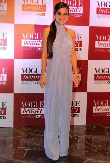 Latest Collection of Powder blue halter jumpsuit by Deme by Gabriella