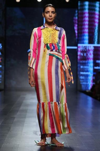 Multicolour Striped Dress