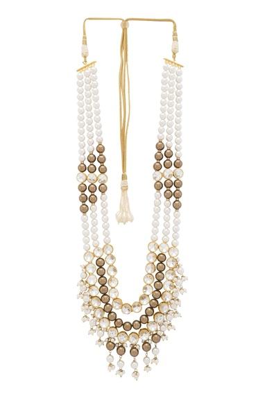 Neckalace with beads and swarovski crystals