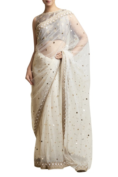 Sari with Embellished Blouse