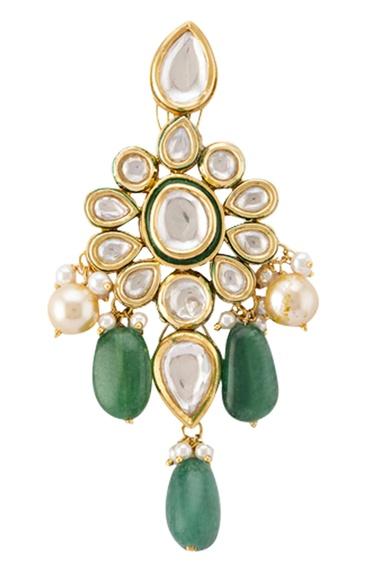 Kundan drop earrings