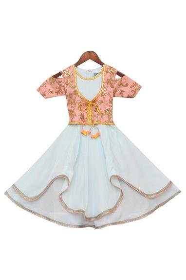 Anarakali Dress With Embroidered Jacket