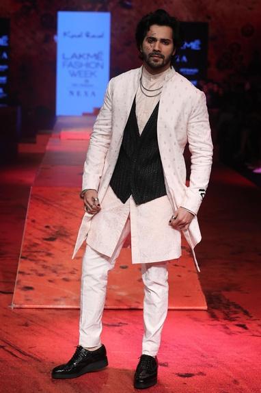 Thread embroidered sherwani set with waistcoat