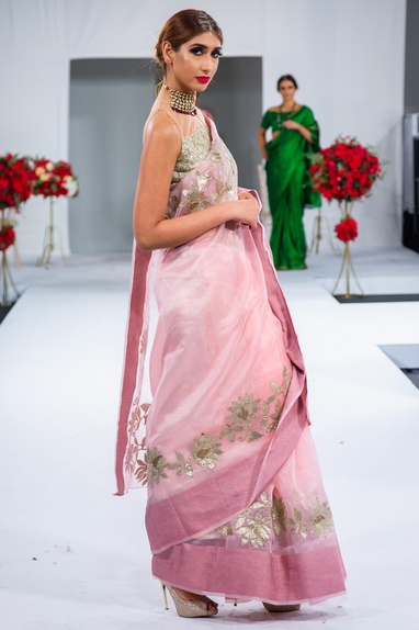 Gota embroidered sari with blouse