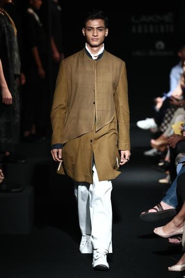 Koti Style Layered Jacket kurta