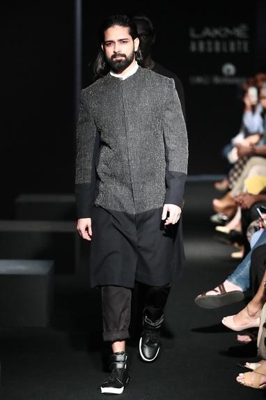 Textured Long Sherwani