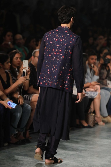 Jaal hand embroidered nehru jacket
