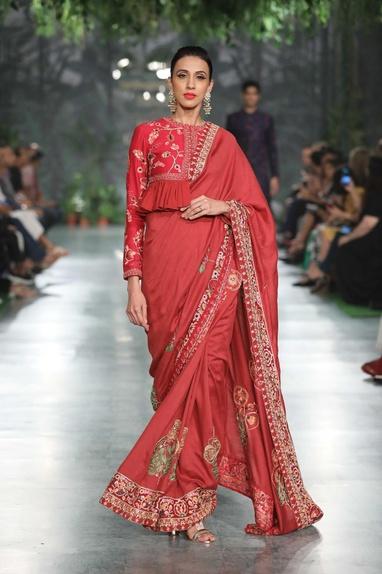 Bidri Hand Embroidered Saree